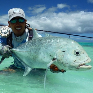 Christmas Island GT fly fishing